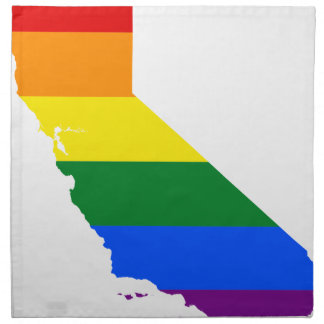 California LGBT Flag Map Napkin