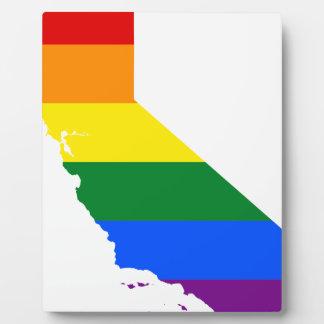 California LGBT Flag Map Plaque
