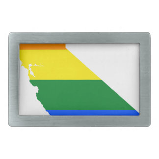 California LGBT Flag Map Rectangular Belt Buckle