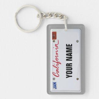 California License Plate (customizable) Keychain