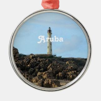 California Lighthouse in Aruba Metal Ornament