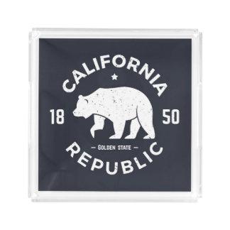 California Logo | The Golden State Acrylic Tray