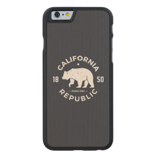 California Logo | The Golden State Carved Maple iPhone 6 Case