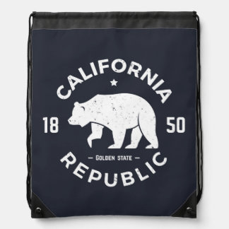 California Logo | The Golden State Drawstring Bag