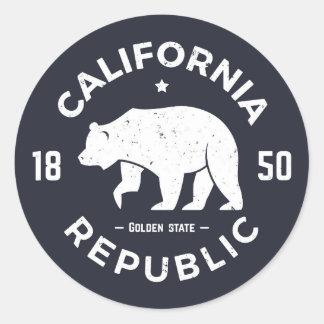 California Logo   The Golden State Round Sticker