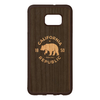 California Logo | The Golden State Wood Samsung Galaxy S6 Edge Case