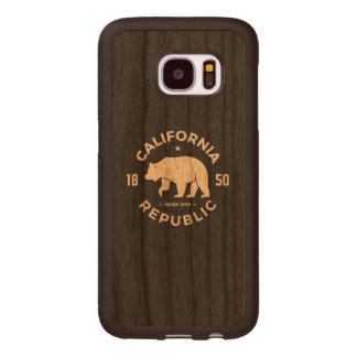 California Logo | The Golden State Wood Samsung Galaxy S7 Case
