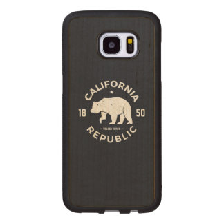 California Logo | The Golden State Wood Samsung Galaxy S7 Edge Case