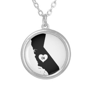 California Love Silver Plated Necklace