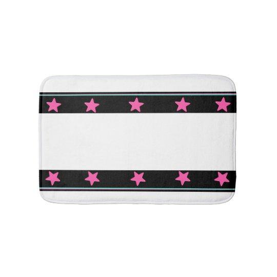 California Love - Stripe of Colourful Stars Bathroom Mat