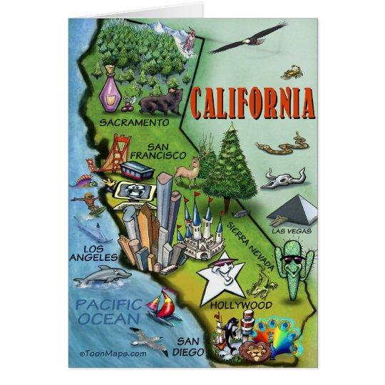California Map Card