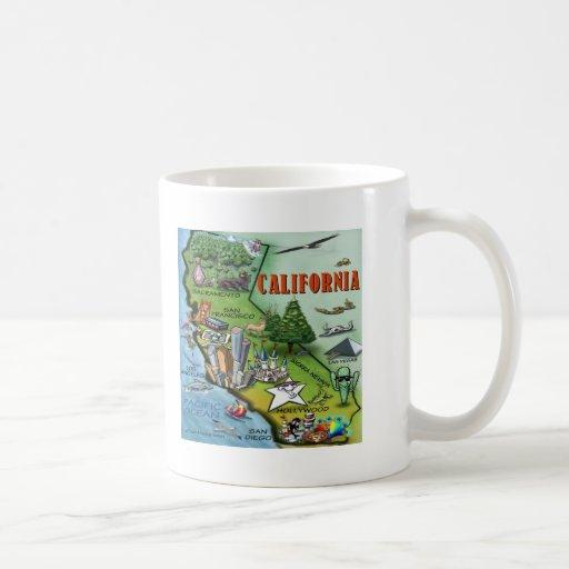 California Map Coffee Mugs