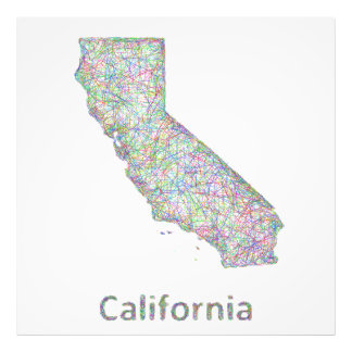 California map photo art