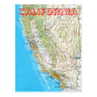 California Map Postcard