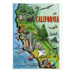 California Map Postcard
