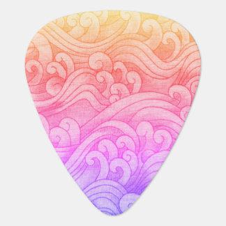 California Mermaid Tidal Waves Pink Guitar Pick