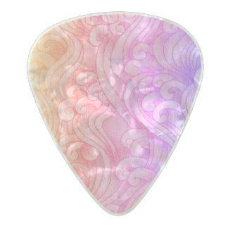 California Mermaid Tidal Waves Pink Pearl Celluloid Guitar Pick