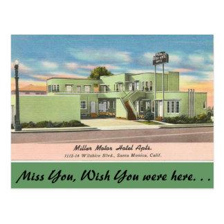 California, Miller Motor Hotel Apts. Postcard