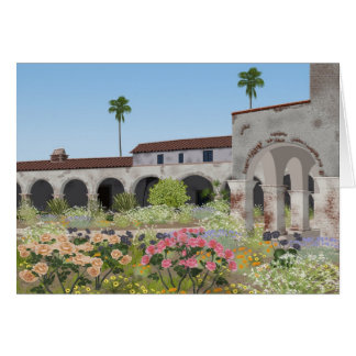 California mission greeting card, blank inside card