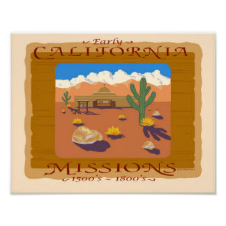 CALIFORNIA MISSION POSTER