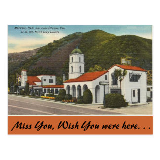 California, Motel Inn, San Luis Obispo Postcard