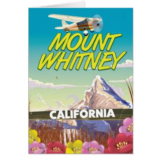 California Mount Whitney Travel poster Card