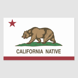California Native Republic Flag Sticker