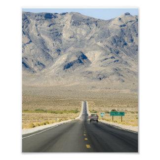 California & Nevada State Line Photograph