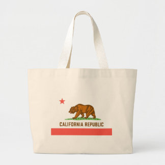 California Official State Flag Jumbo Tote Bag