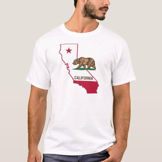 California Outline and Flag T-Shirt