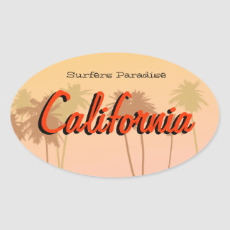 California Oval Sticker
