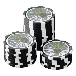 California Palm Tree Poker Chips