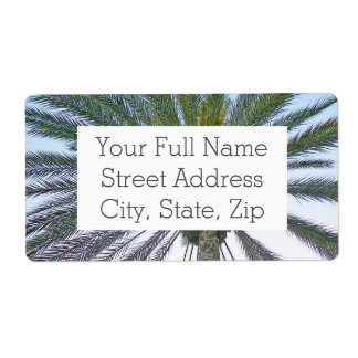 California Palm Tree Shipping Label