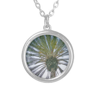 California Palm Tree Silver Plated Necklace