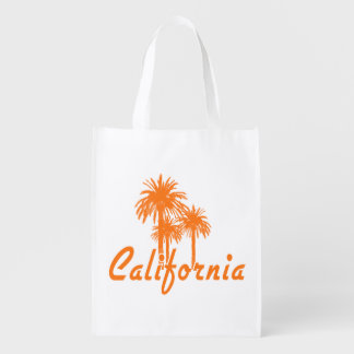 California Palm Trees Reusable Grocery Bag