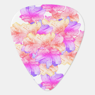 California Pink Flower Illustration Save the Date Guitar Pick