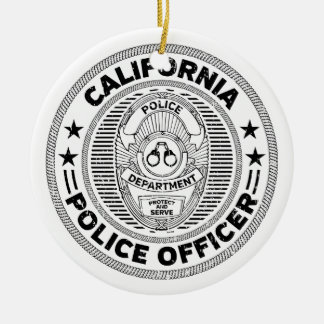 California Police Officer Ceramic Ornament