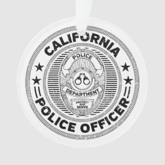 California Police Officer Ornament