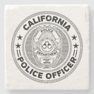 California Police Officer Stone Coaster