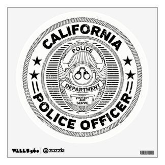 California Police Officer Wall Decal