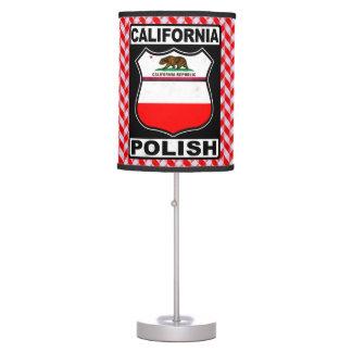 California Polish American Table Lamp