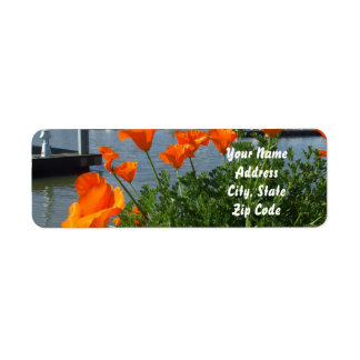 California Poppies Address labels