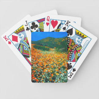 California Poppies and Popcorn wildflowers Poker Deck
