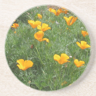 California Poppies Drink Coaster