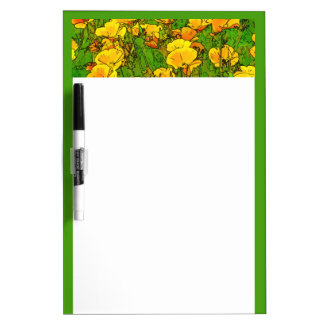California Poppies Dry Erase Board