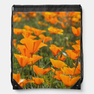 California Poppies Field Cinch Bags