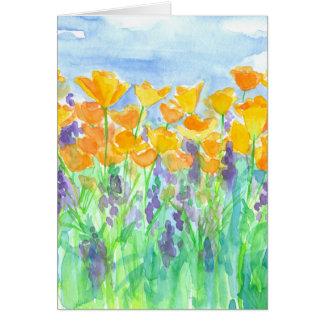 California Poppies Happy Birthday Card