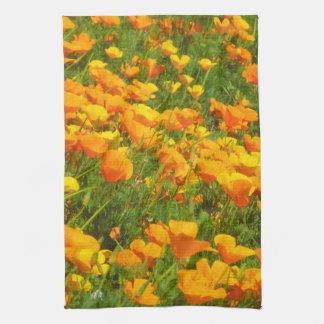 California Poppies Kitchen Towel