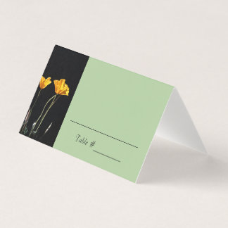 California Poppies Place/ Escort Cards