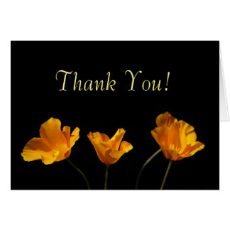 California Poppies Thank You Card
